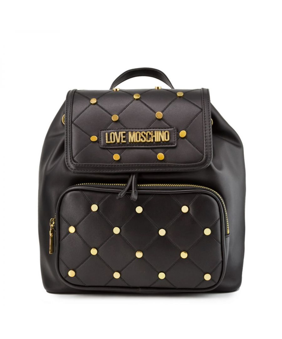 Image for Drawstring Backpack with Studs Love Moschino NERO
