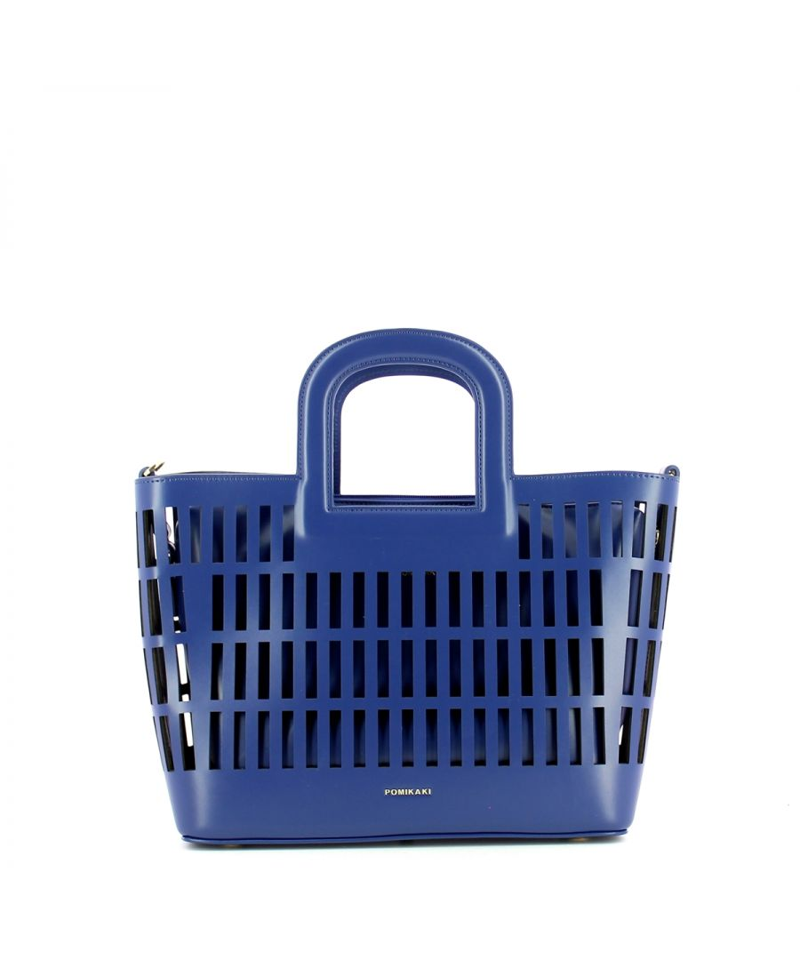 Image for Basket Handbag Kirigami Pomikaki NAVY BLUE