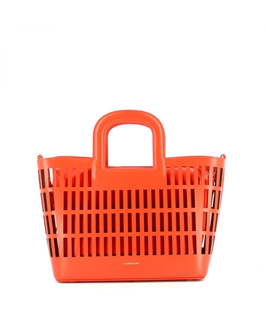 Image for Basket Handbag Kirigami Pomikaki RED