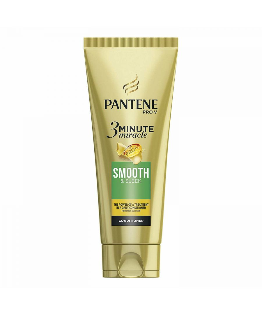 Image for Pantene 3 Min Miracle Smooth & Sleek Conditioner 200ml