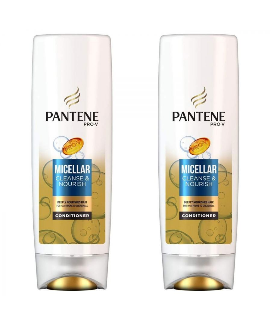 Image for Pantene Conditioner Cleanse and Nourish 2 x 500ml