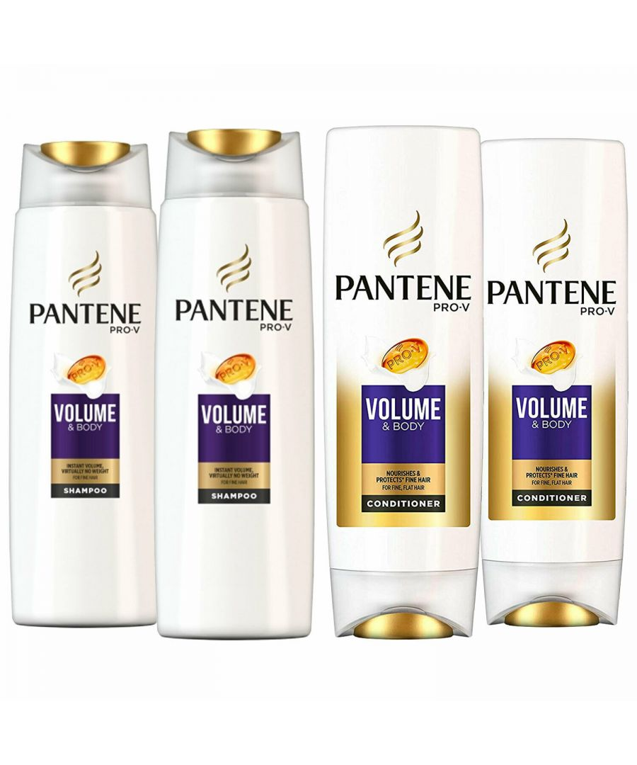 Image for Pantene Sheer Volume Shampoo 2 x 500ml & Conditioner 2 x 500ml