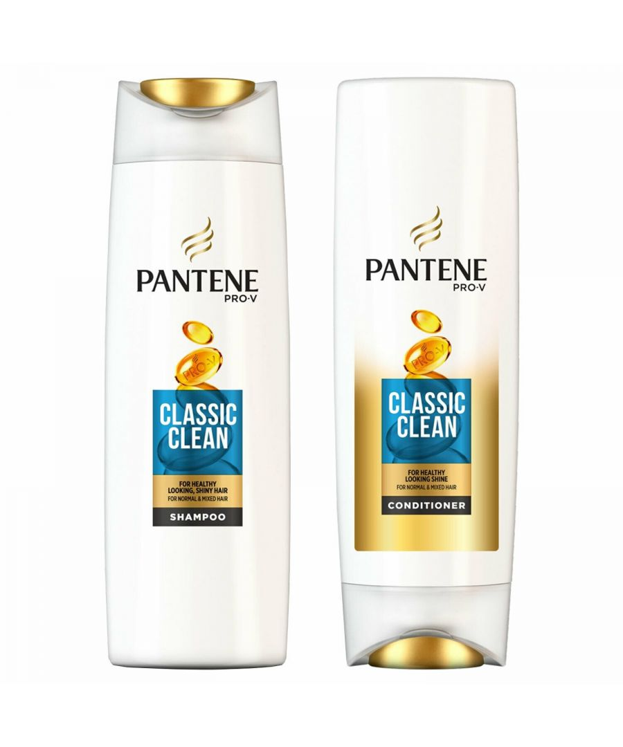 Image for Pantene Classic Clean Shampoo 500ml & Conditioner 500ml