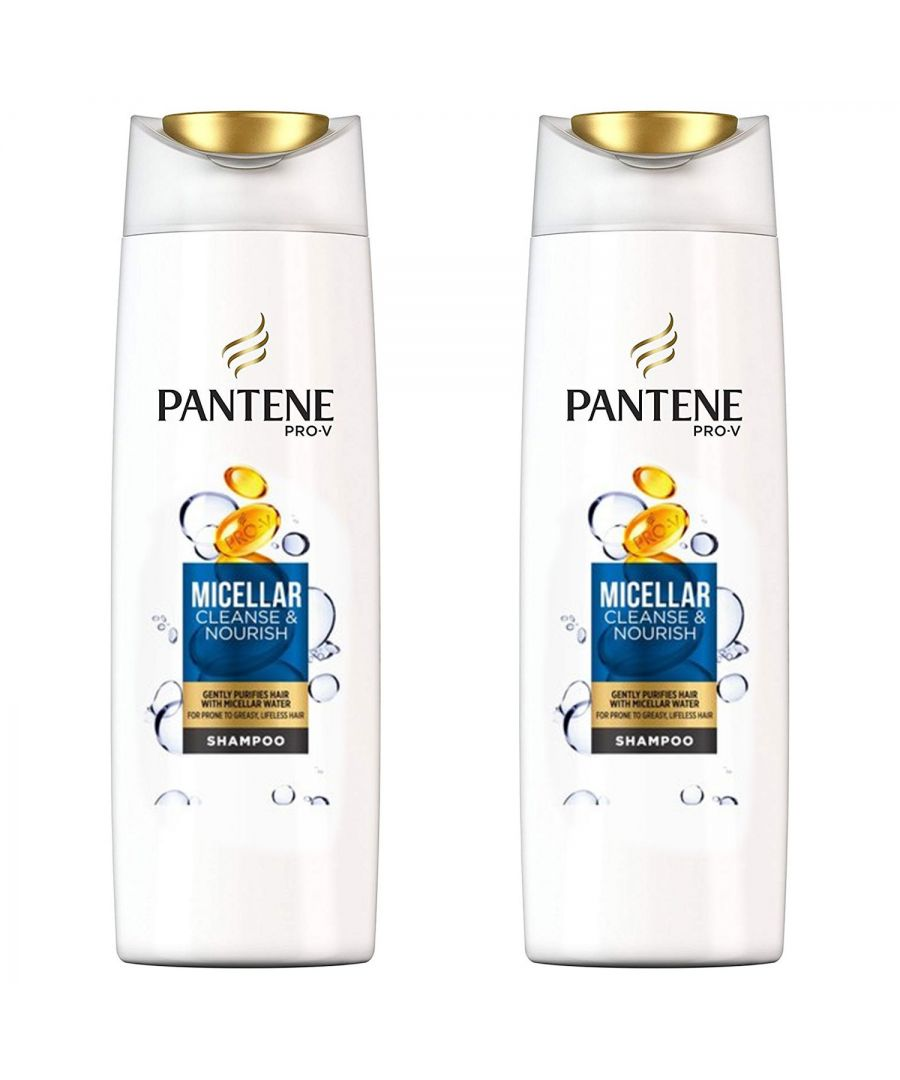 Image for Pantene Shampoo Micellar 2 x 500ml