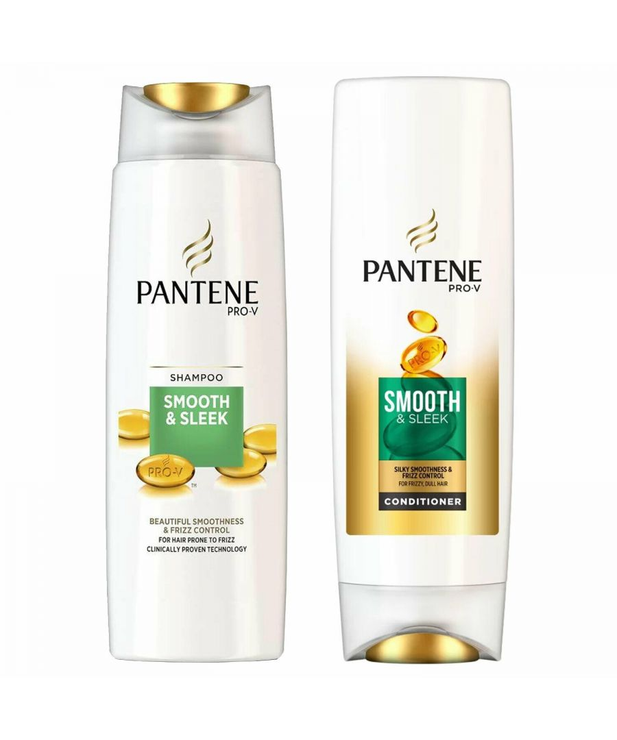 Image for Pantene Smooth & Sleek Shampoo 500ml & Conditioner 500ml