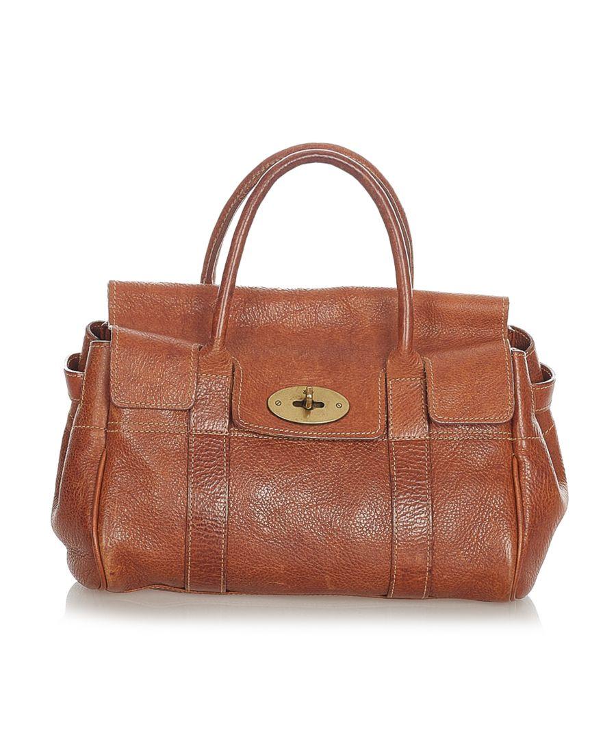Image for Vintage Mulberry Bayswater Leather Handbag Brown