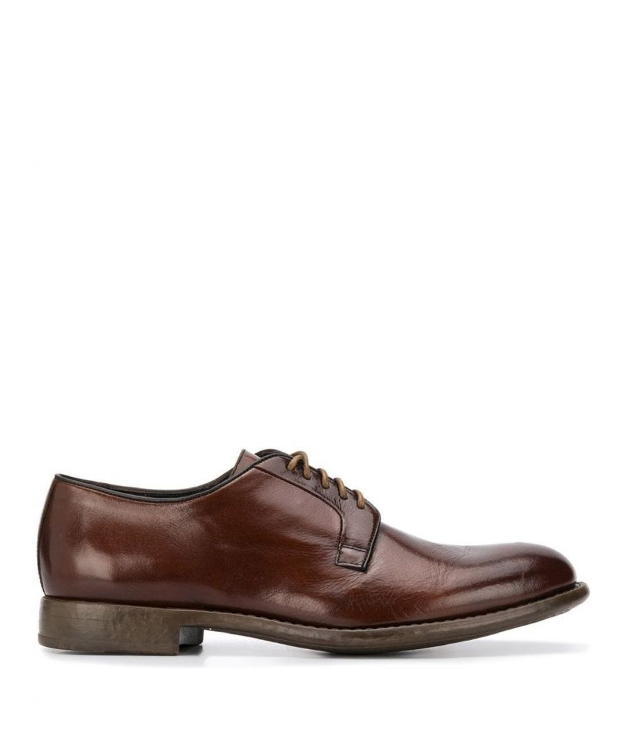 Image for DOUCAL'S MEN'S DU2390MARTUF063MM04 BROWN LEATHER LACE-UP SHOES