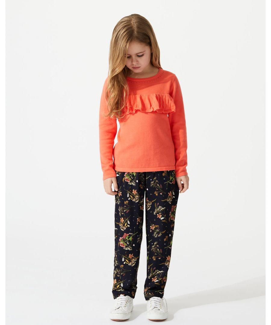 Image for Pressed Flower Woven Trouser