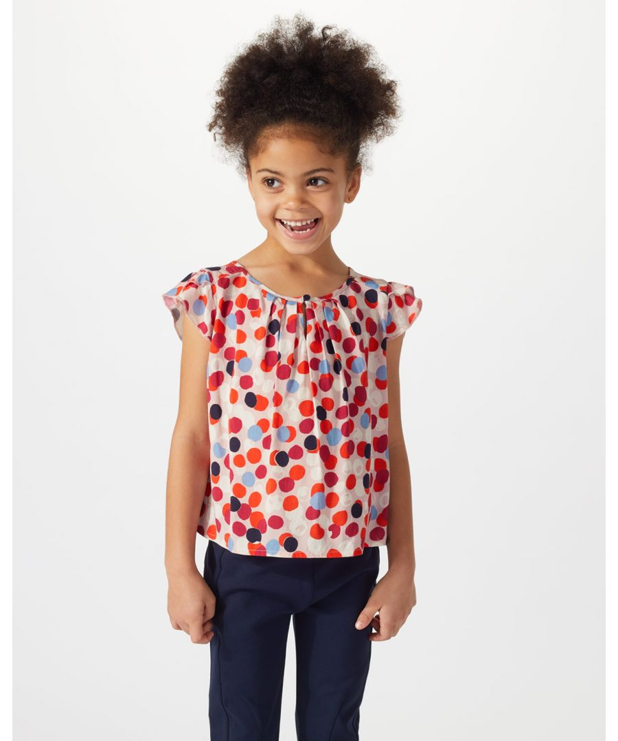 Image for Scattered Spot Woven Top
