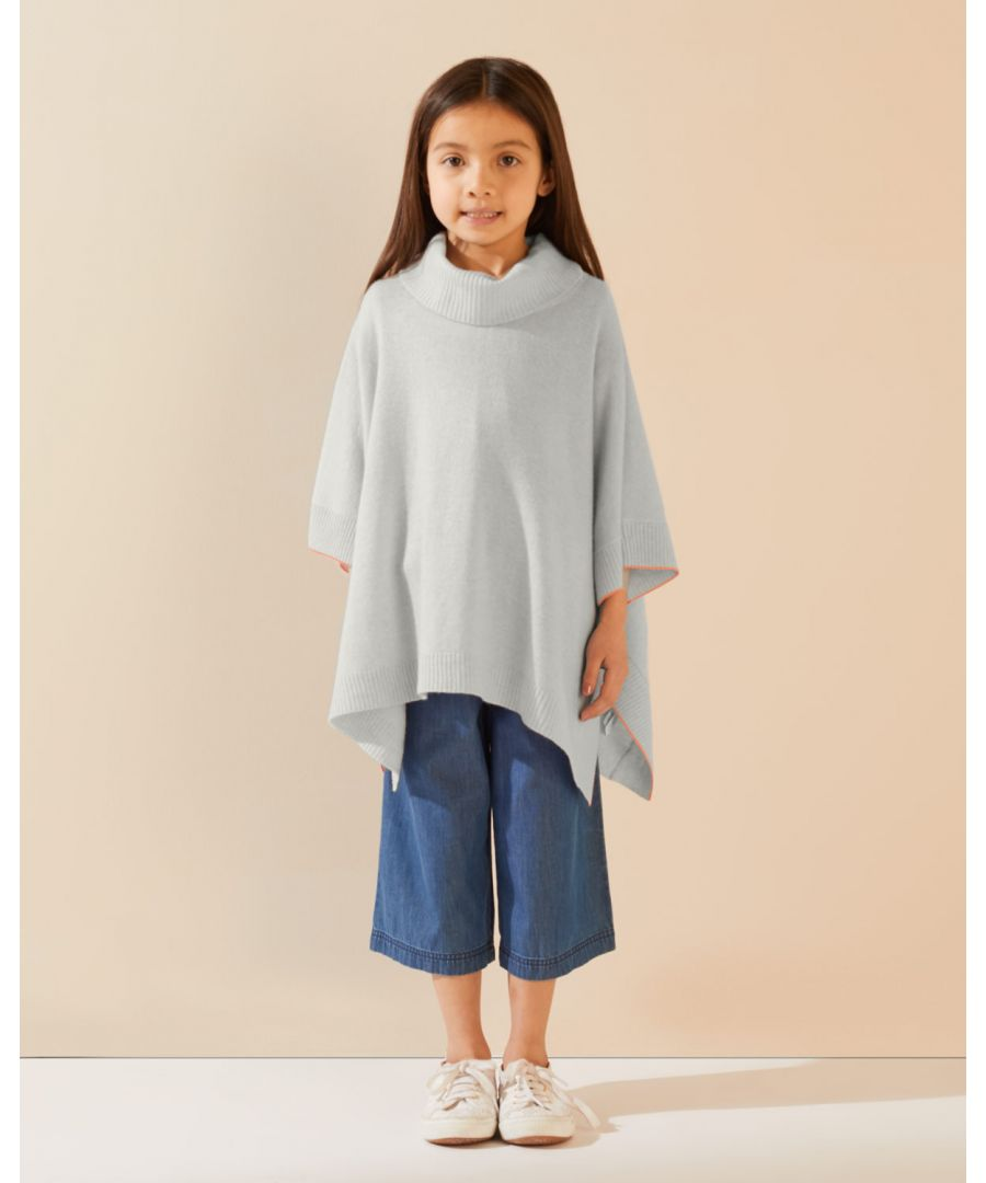 Image for Ribbed Roll Neck Poncho