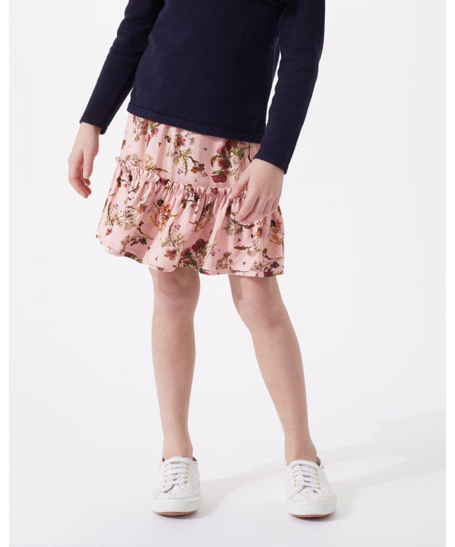 Image for Pressed Flower Print Skirt