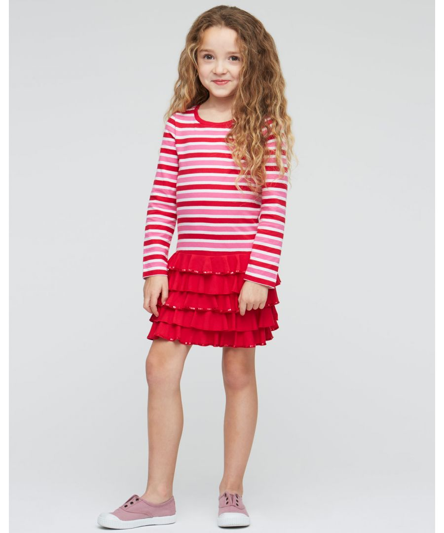 Image for Sequinned Ruffles Dress