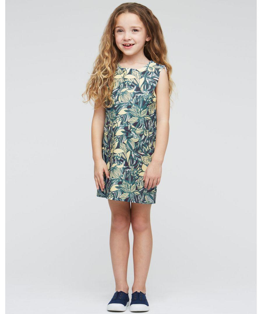 Image for Leaf Print Block Dress
