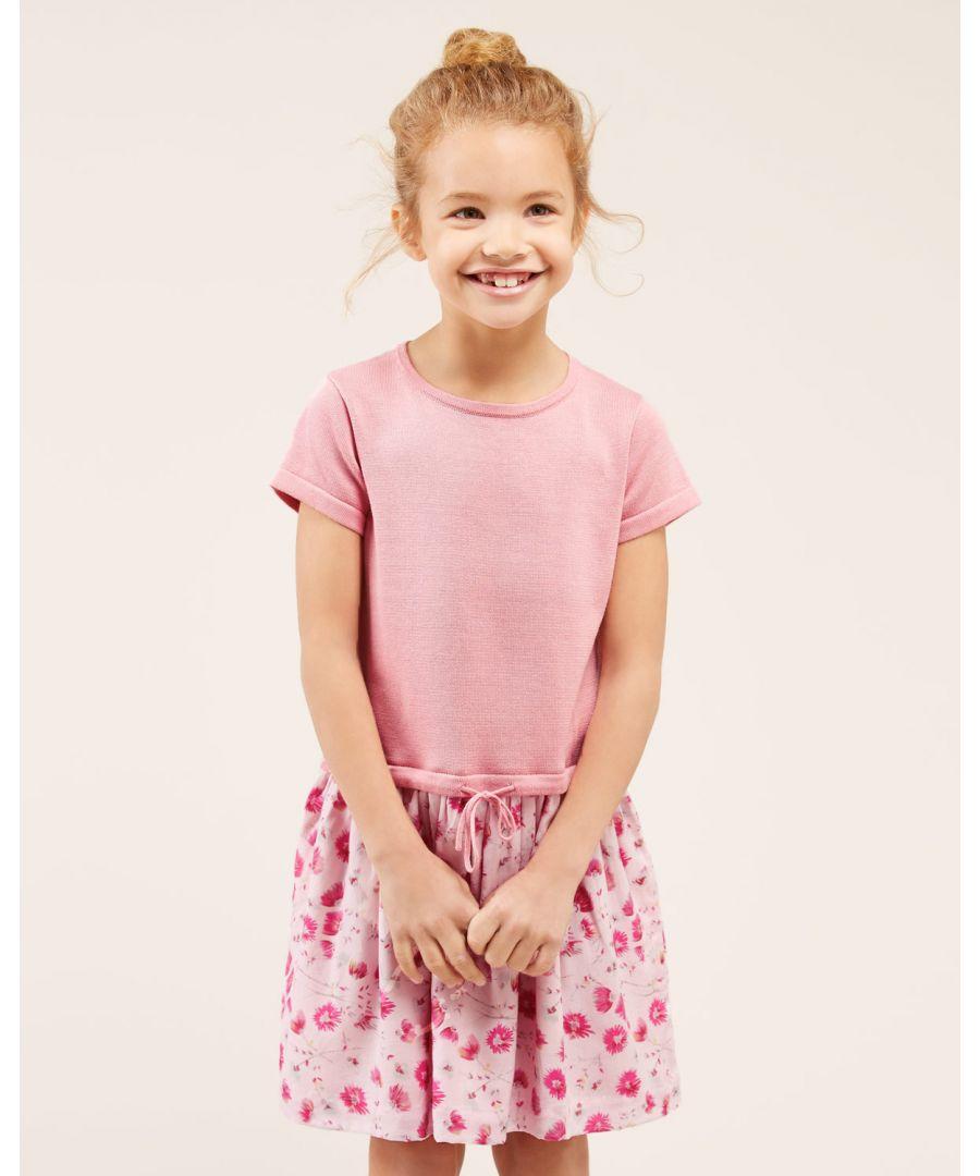 Image for Dandelion Print 2-1 Knit Dress