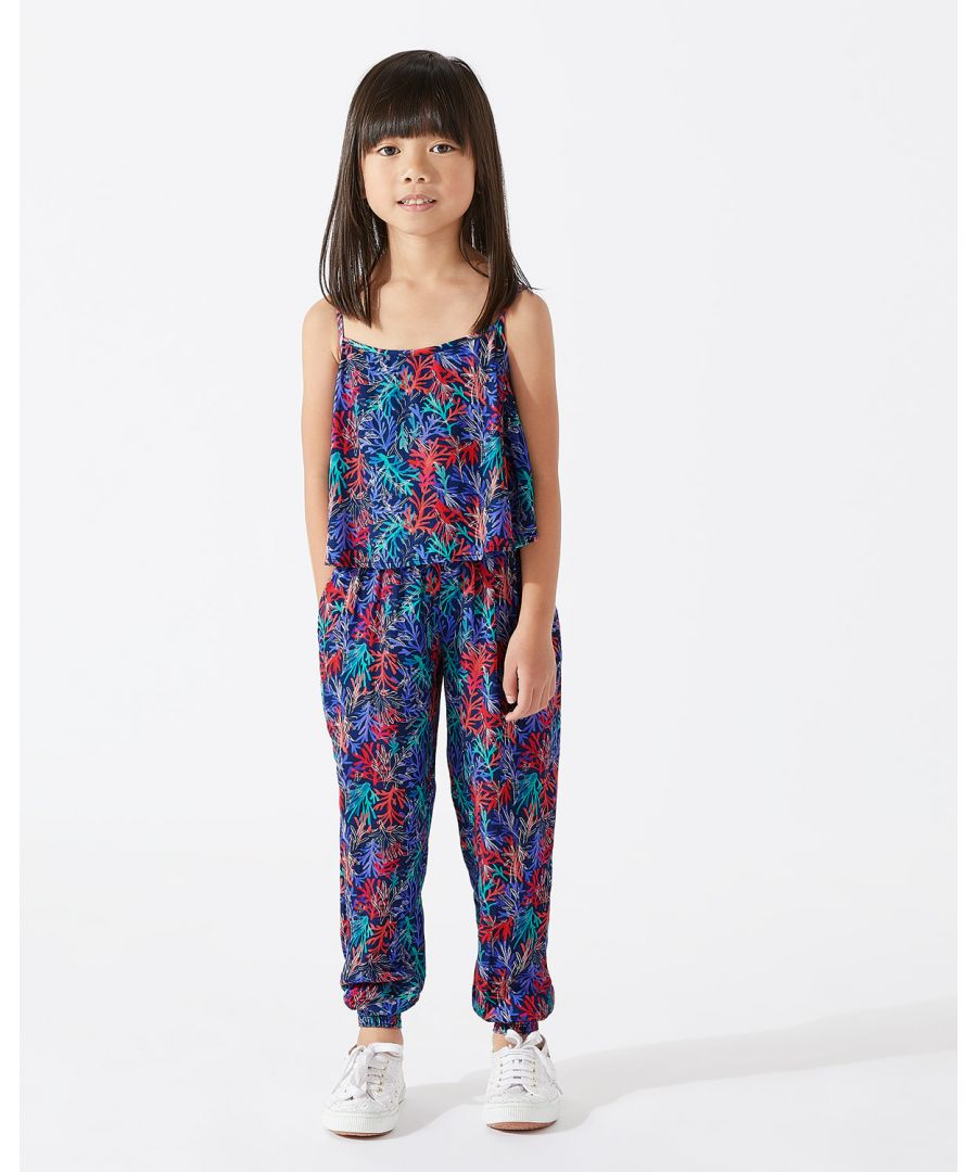 Image for Coastal Reef Print Jumpsuit