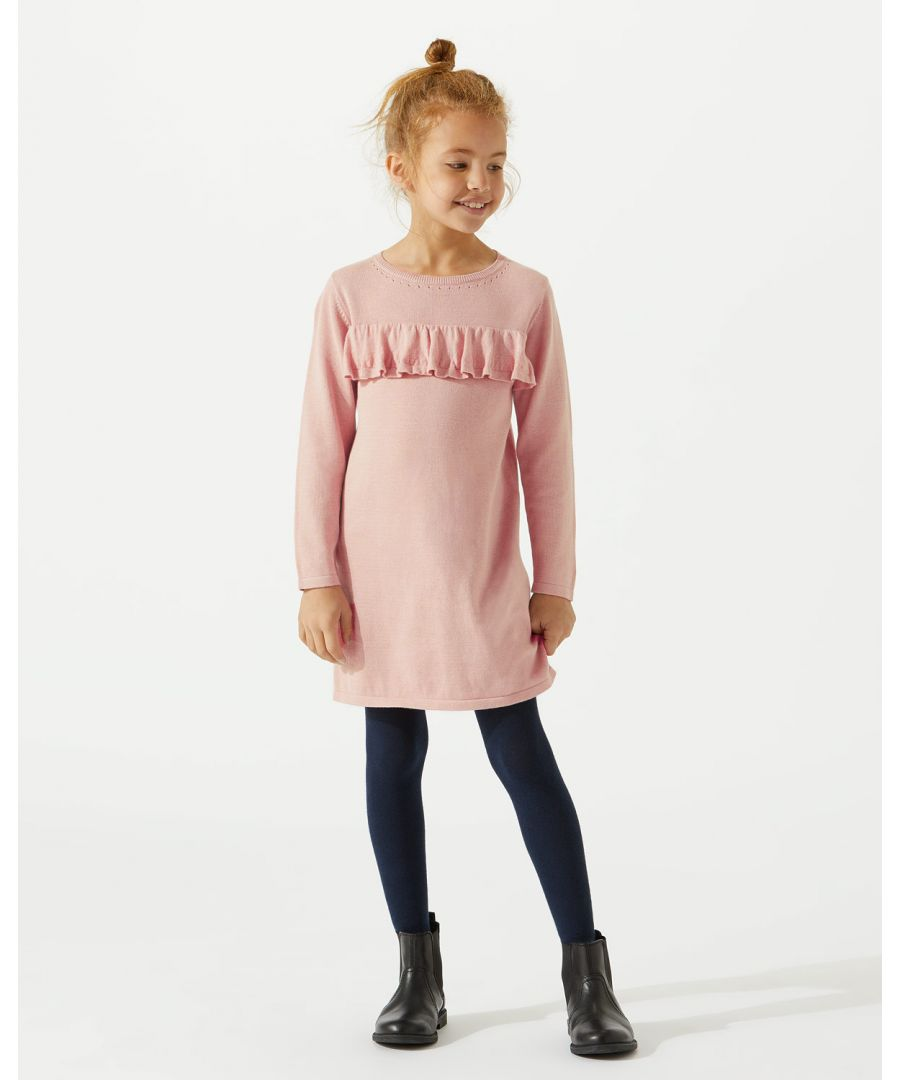 Image for Knit Frill Front Dress