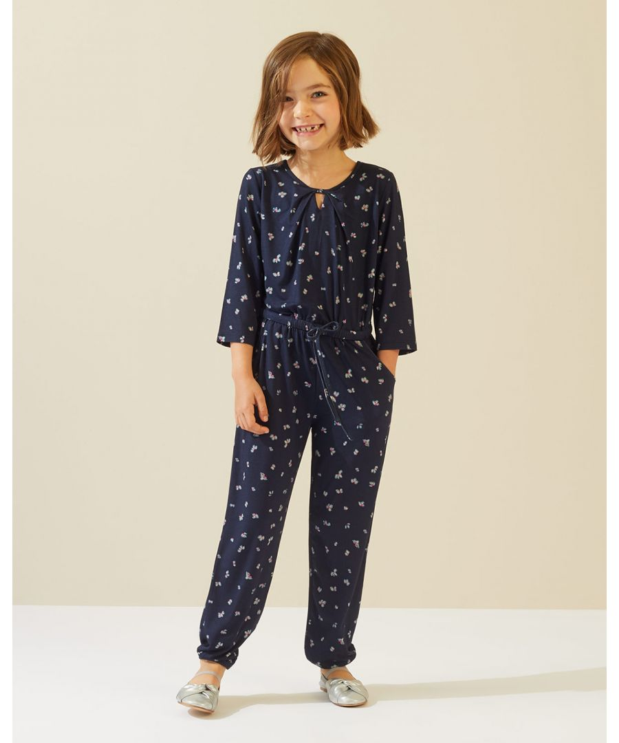 Image for Ditsy Bud Jersey Jumpsuit