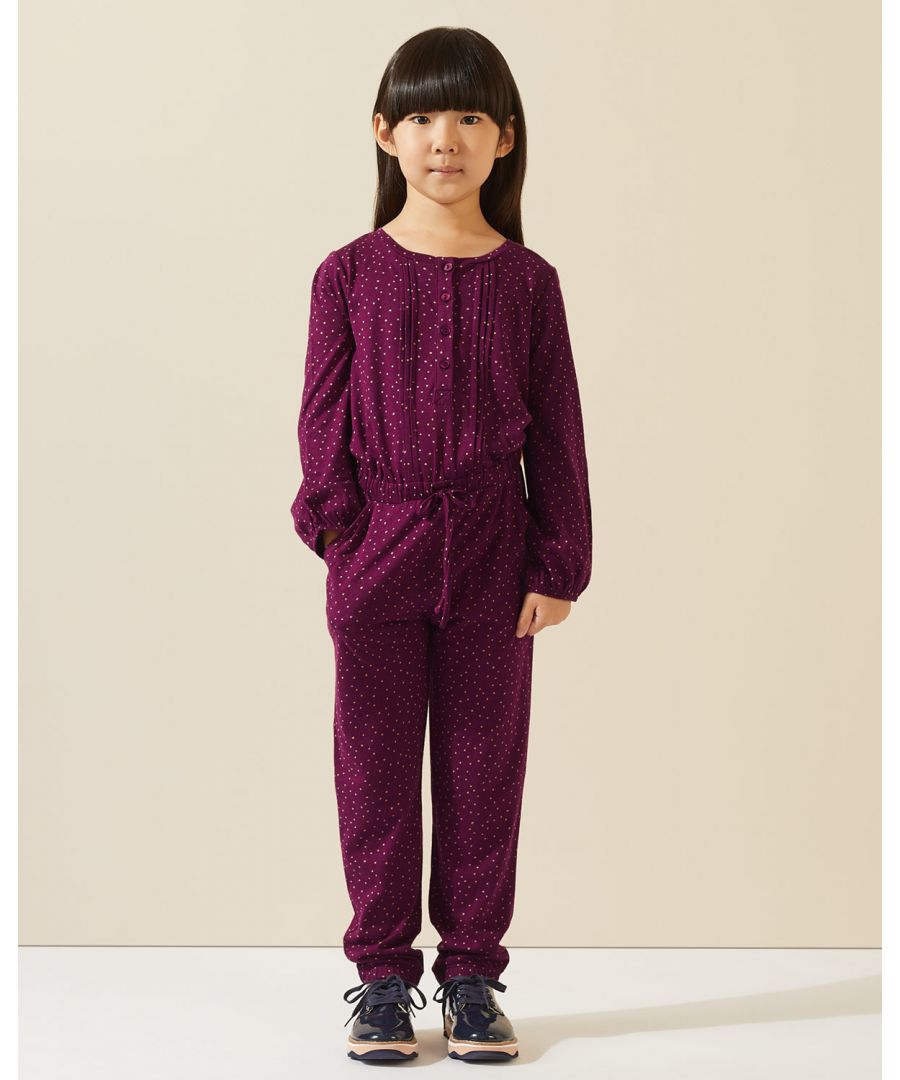 Image for Polka Dot Jersey Jumpsuit