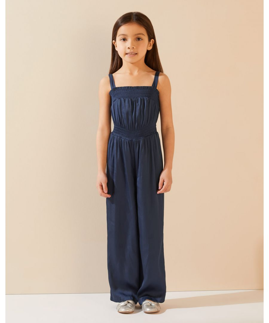 Image for Silky Shirred Jumpsuit