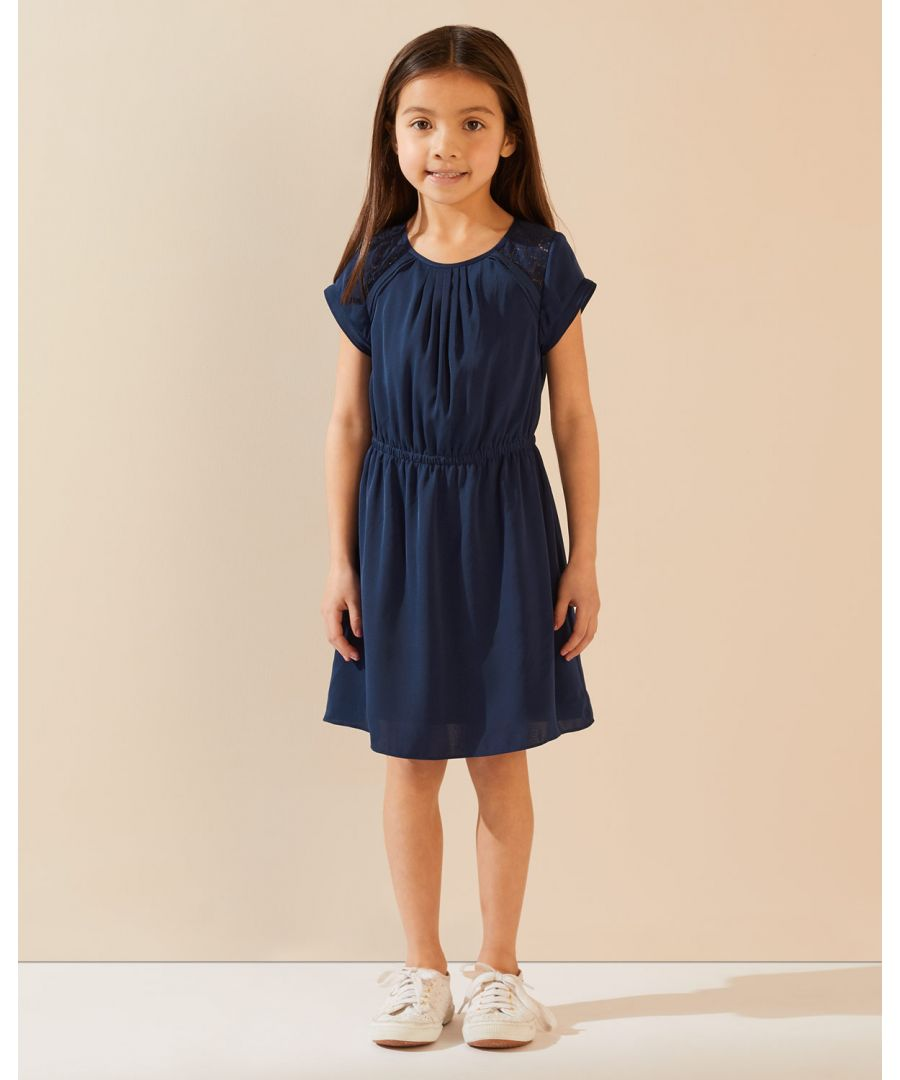 Image for Silky Lace Insert Dress