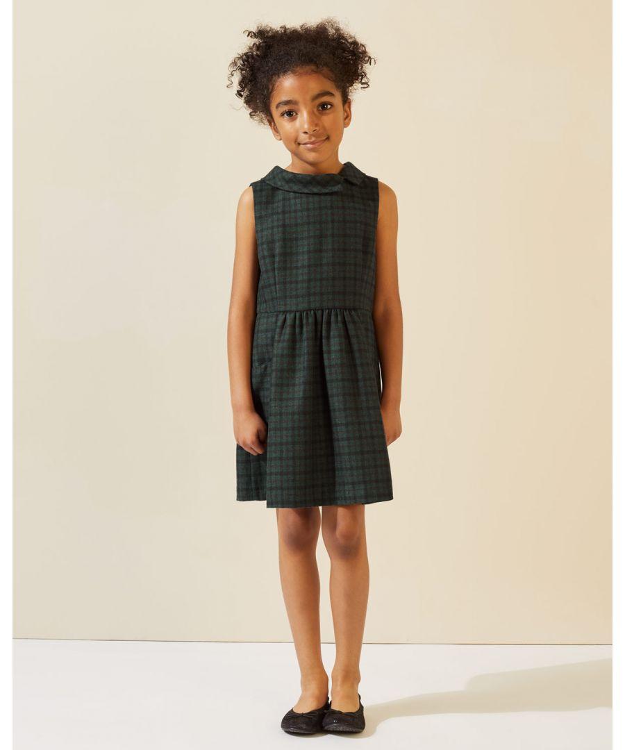 Image for Tartan Wool Pinafore