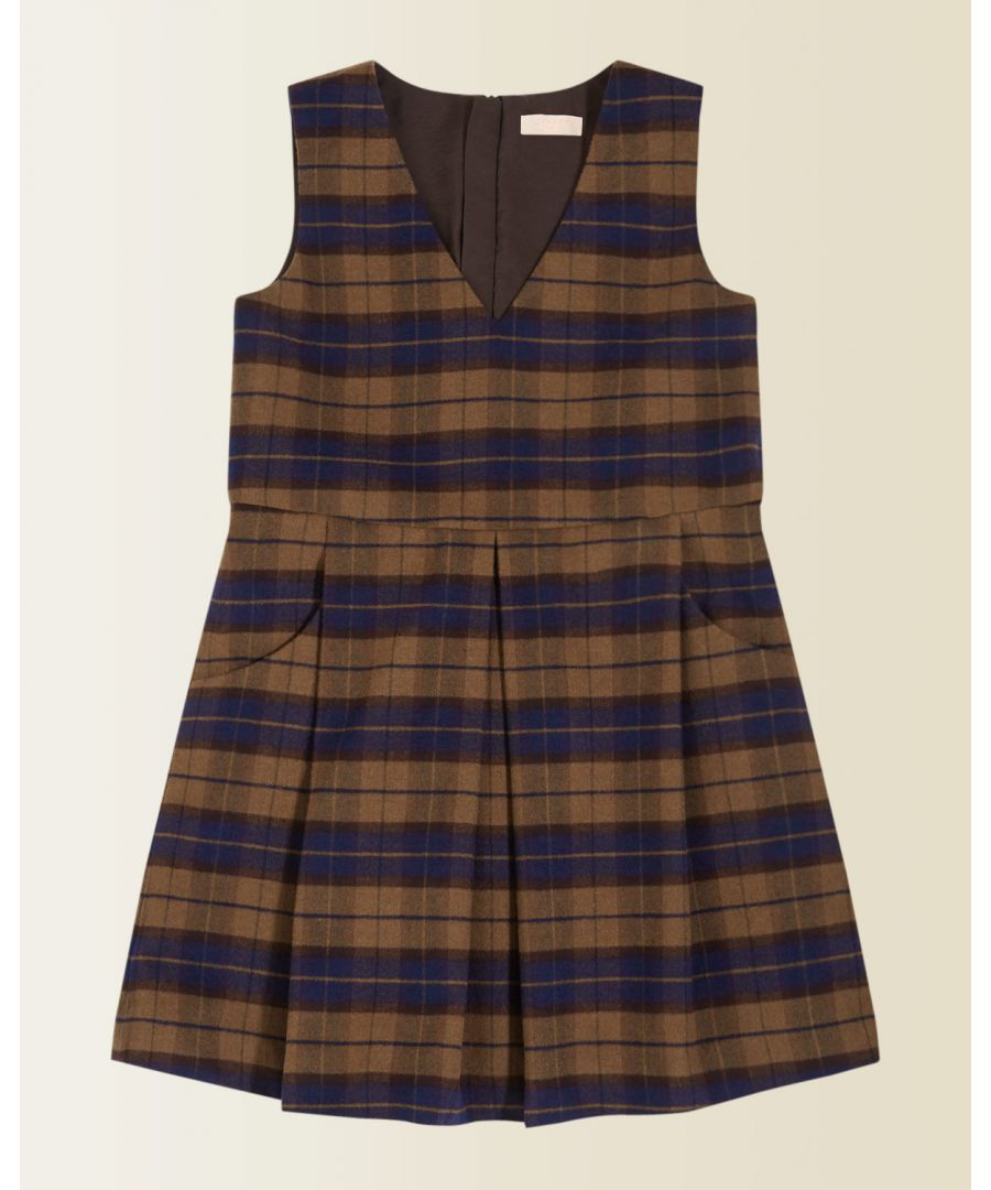 Image for Check Wool Pinafore