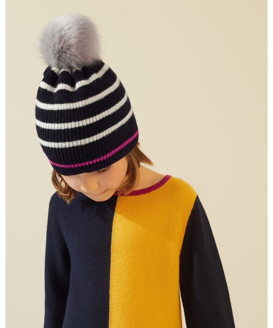 Image for Neon Stripe Pom Hat