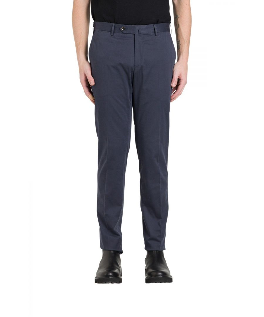 Image for PT01 MEN'S CODL01Z00CL3BB140360 BLUE COTTON PANTS