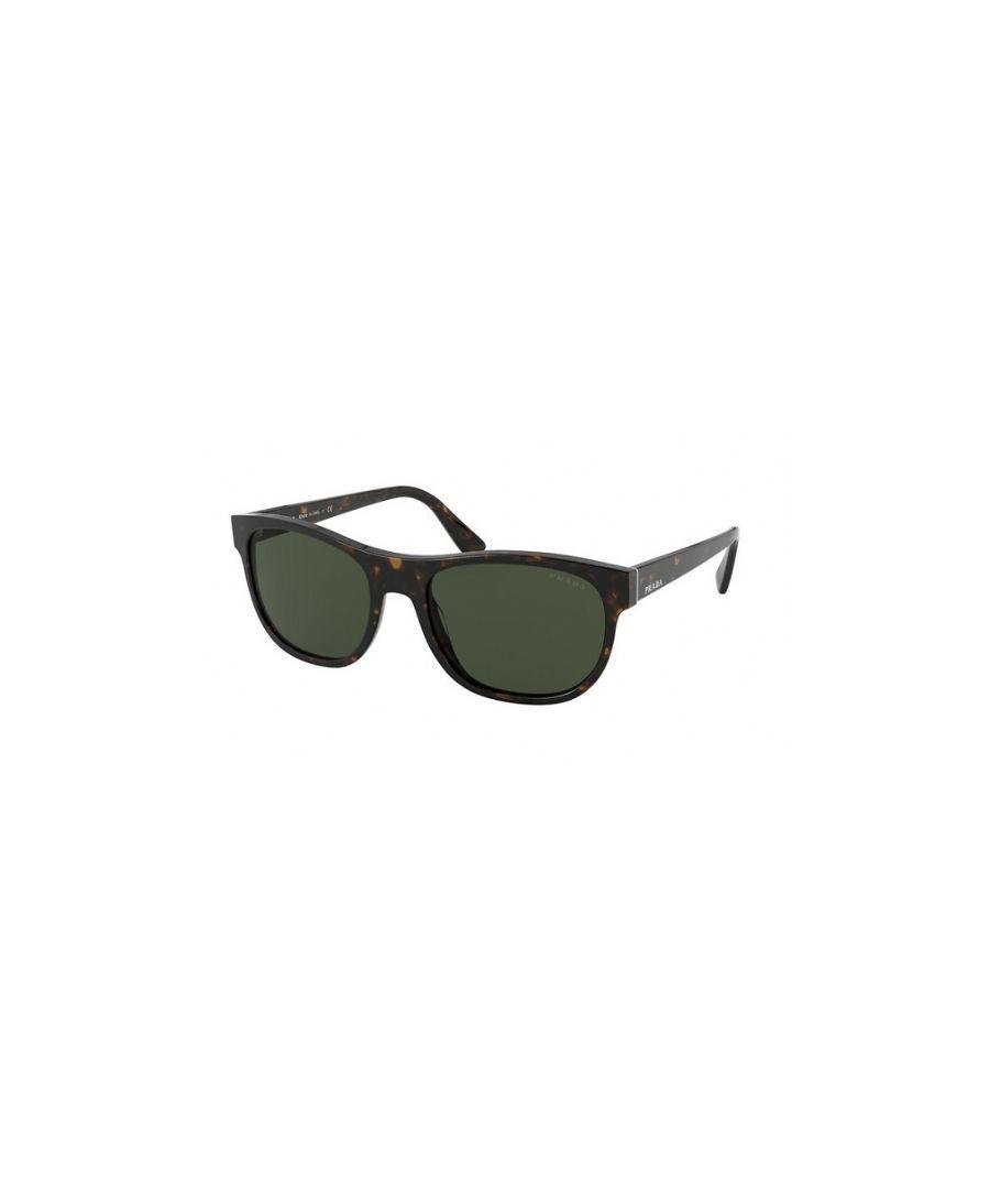 Image for Prada Rectangular plastic Men Sunglasses Heritage Havana/Green