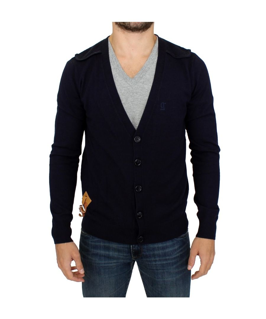 Image for Galliano Blue wool cardigan sweater