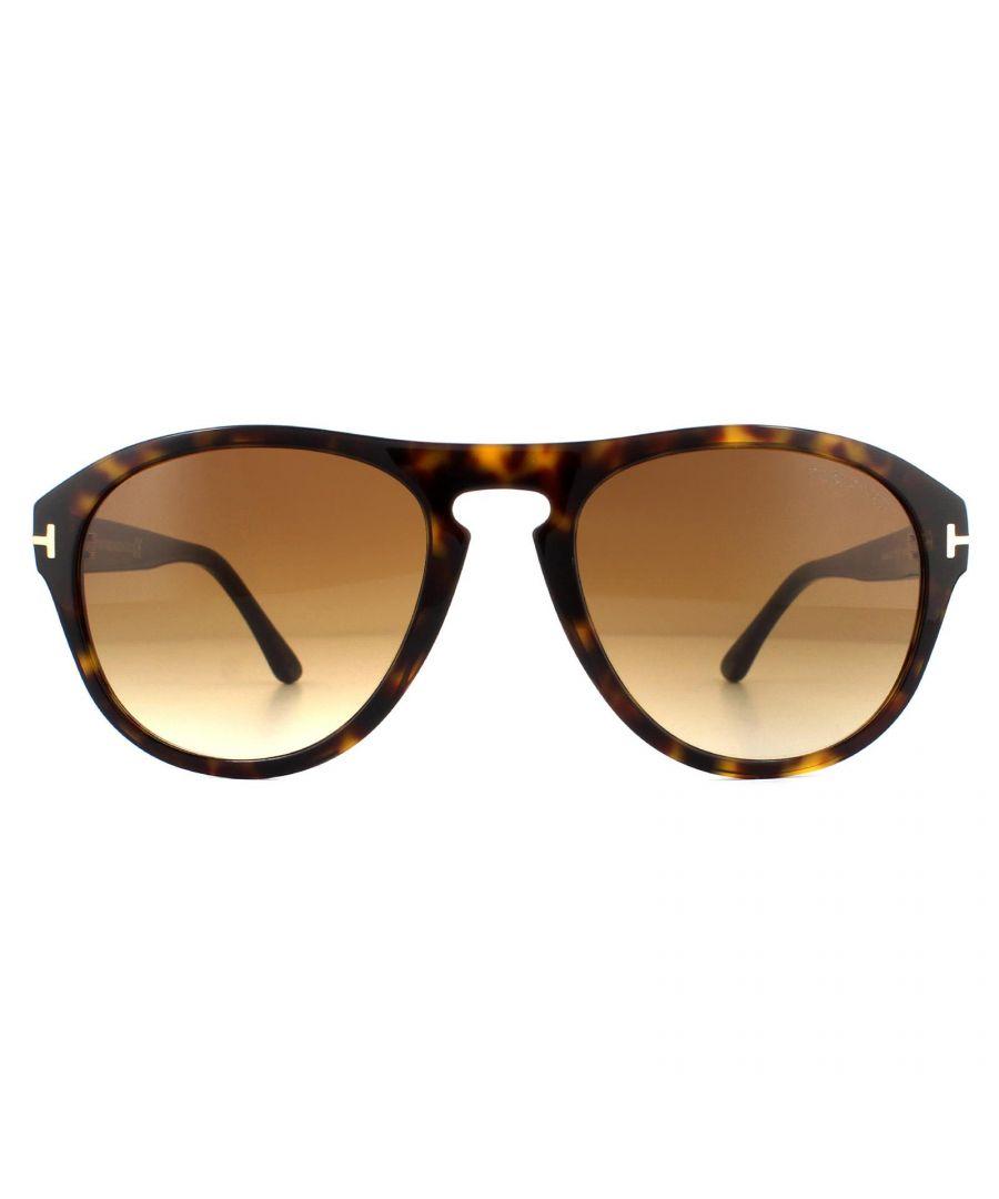 Image for Tom Ford Sunglasses Austin-02 FT0677 52F Dark Havana Brown Gradient
