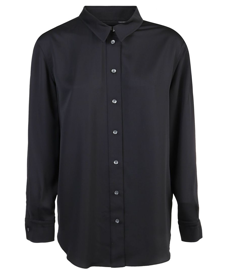 Image for CALVIN KLEIN WOMEN'S K20K201720BDS BLACK POLYESTER SHIRT