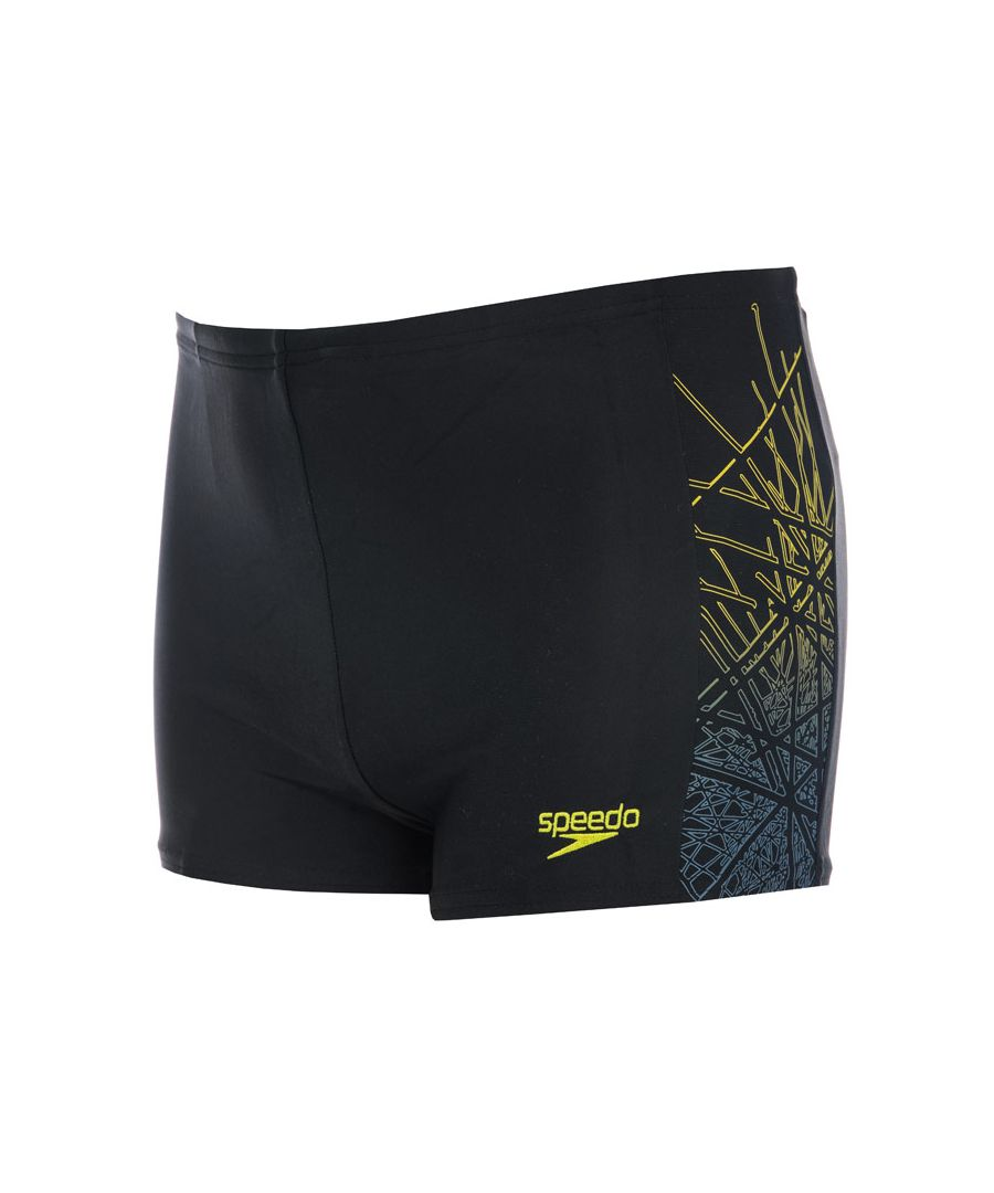 Image for Boy's Speedo Infant Logo Panel Aqua Shorts in black blue