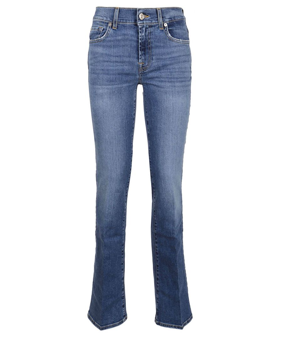 Image for 7 FOR ALL MANKIND WOMEN'S JSWB44A0NTLIGHTBLUE BLUE COTTON JEANS