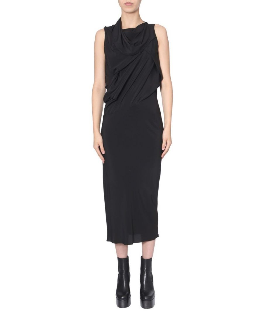 Image for RICK OWENS WOMEN'S RP19F5574CC09 BLACK ACETATE DRESS