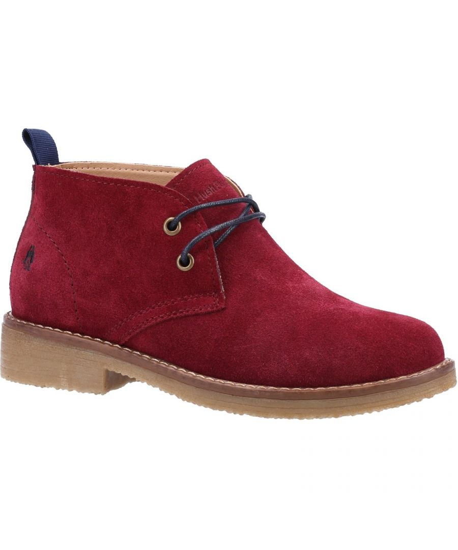Image for Hush Puppies Women's Marie Suede Ankle Boots (Burgundy)