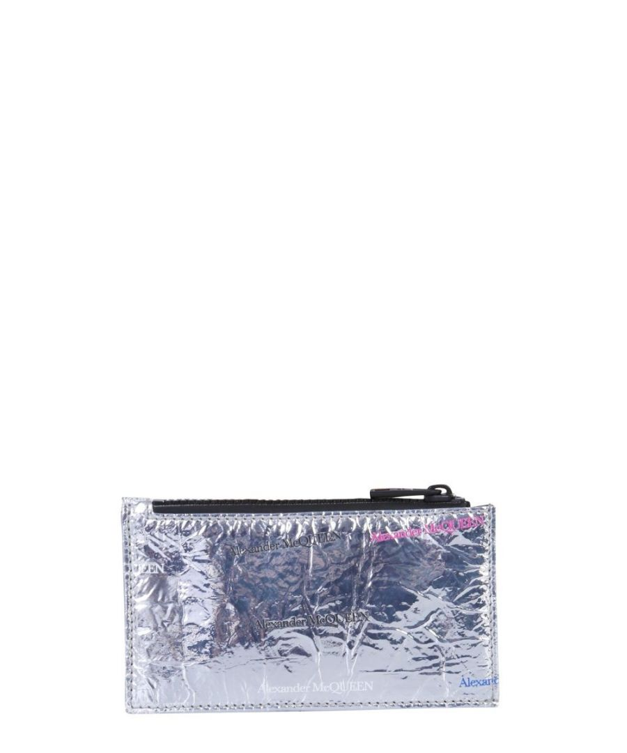 Image for ALEXANDER MCQUEEN MEN'S 602150HVP0B1402 SILVER LEATHER CARD HOLDER