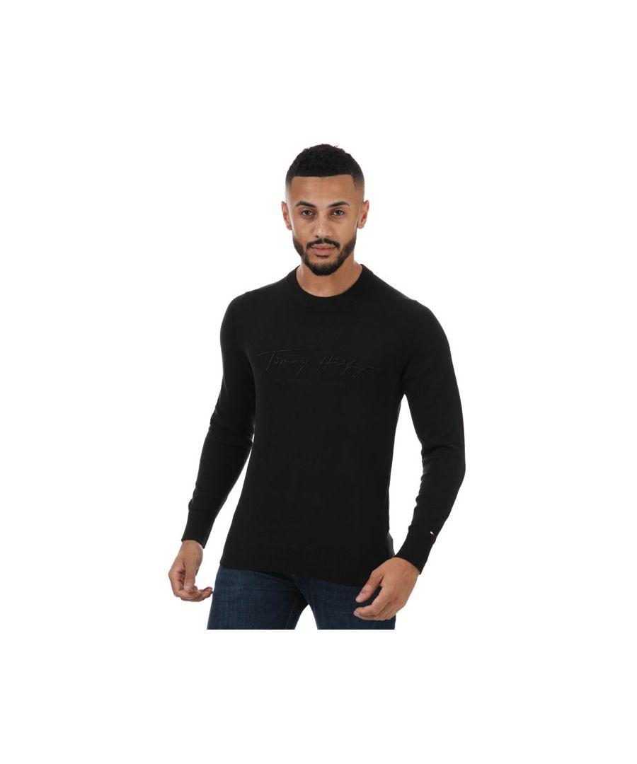 Image for Men's Tommy Hilfiger Tonal Autograph Sweatshirt in Black