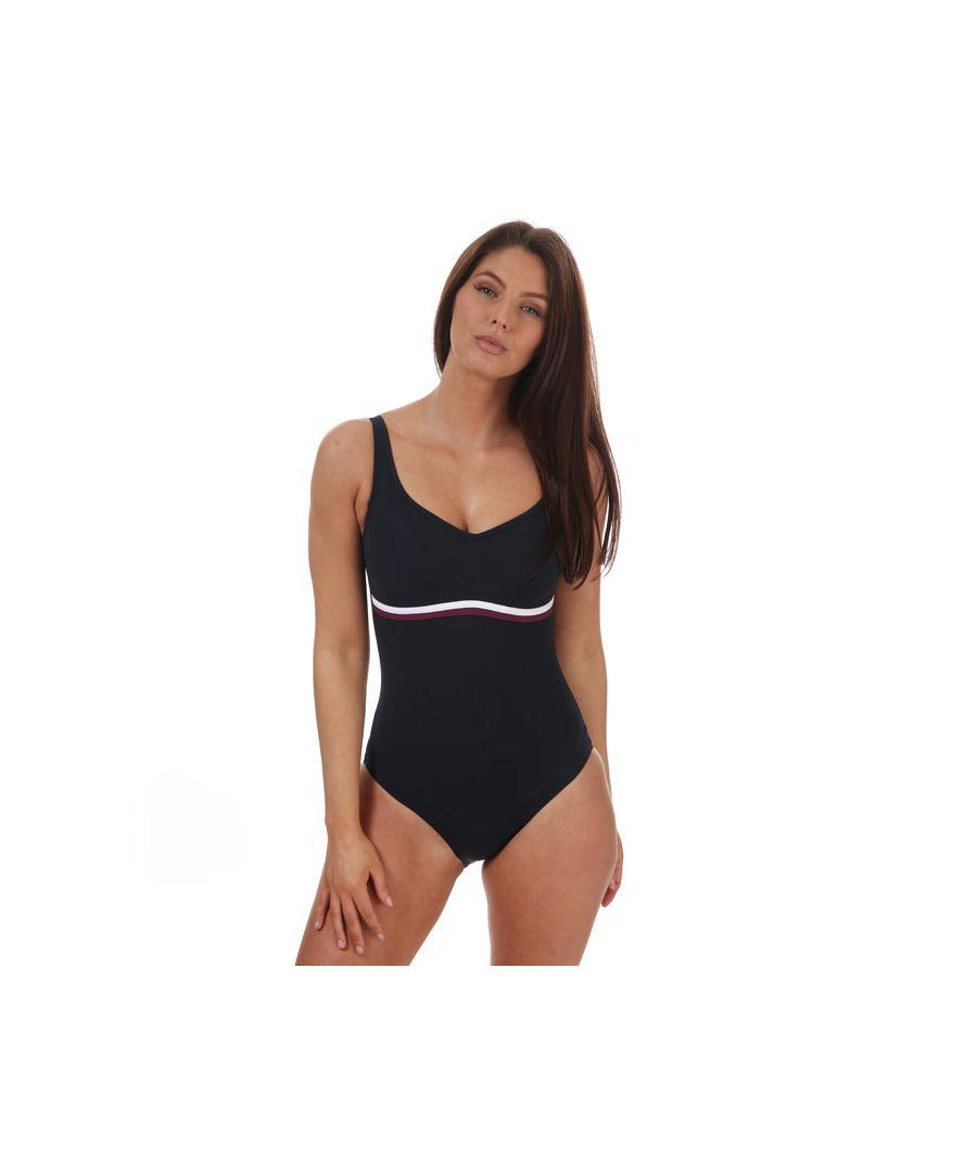 Image for Women's Speedo Sculpture ContourLuxe Swimsuit Navy 10in Navy