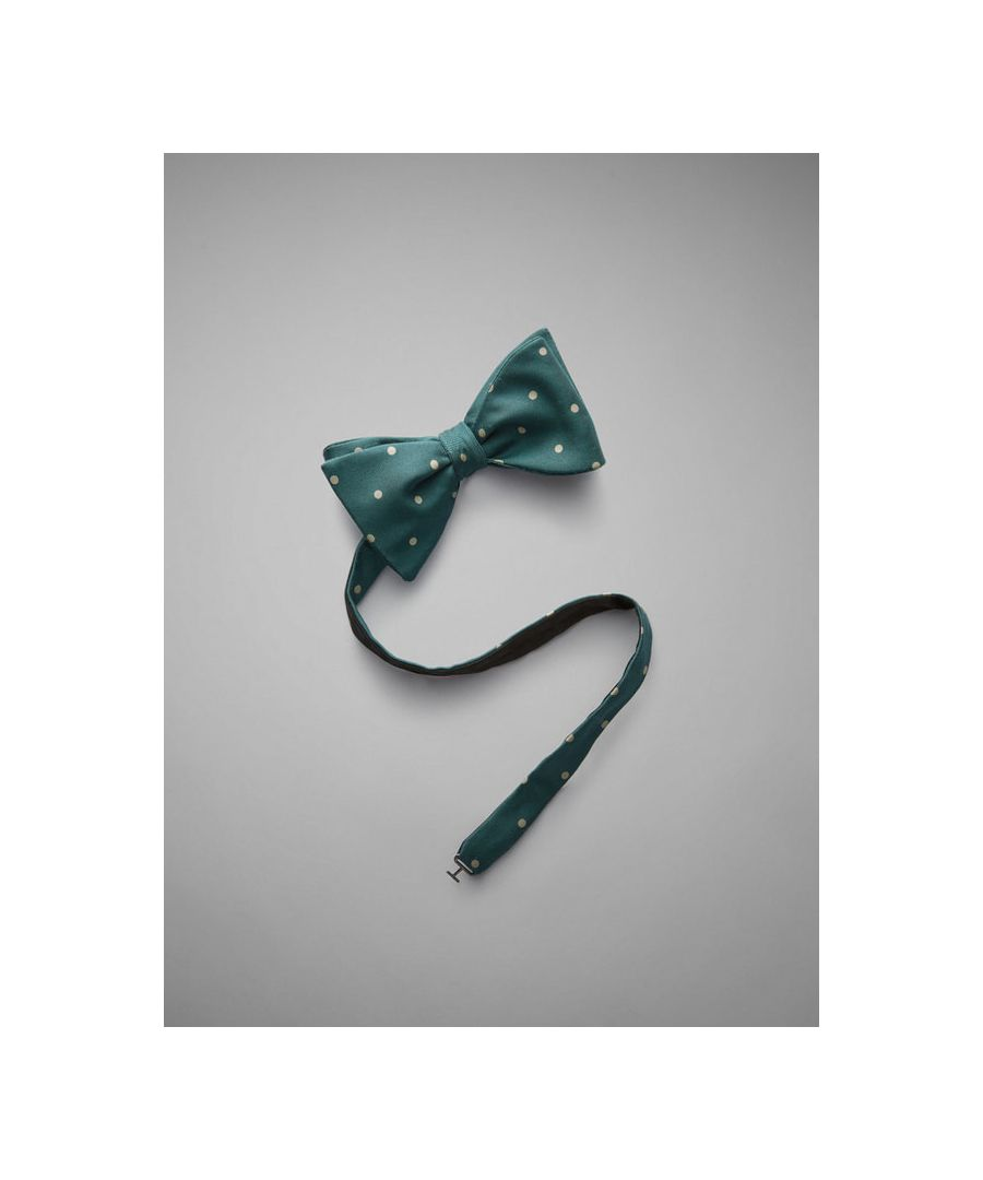 Image for Polka Dot Printed Silk Bow Tie