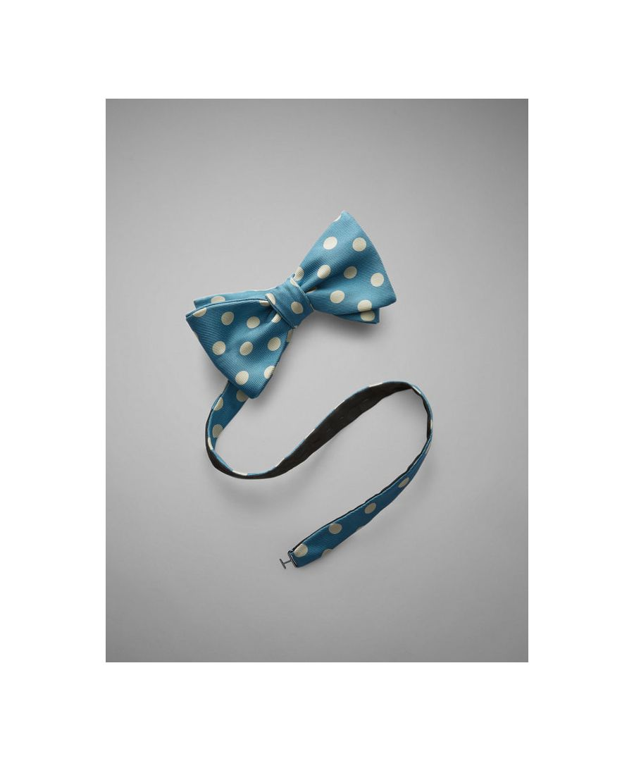 Image for Large Spot Printed Silk Bow Tie