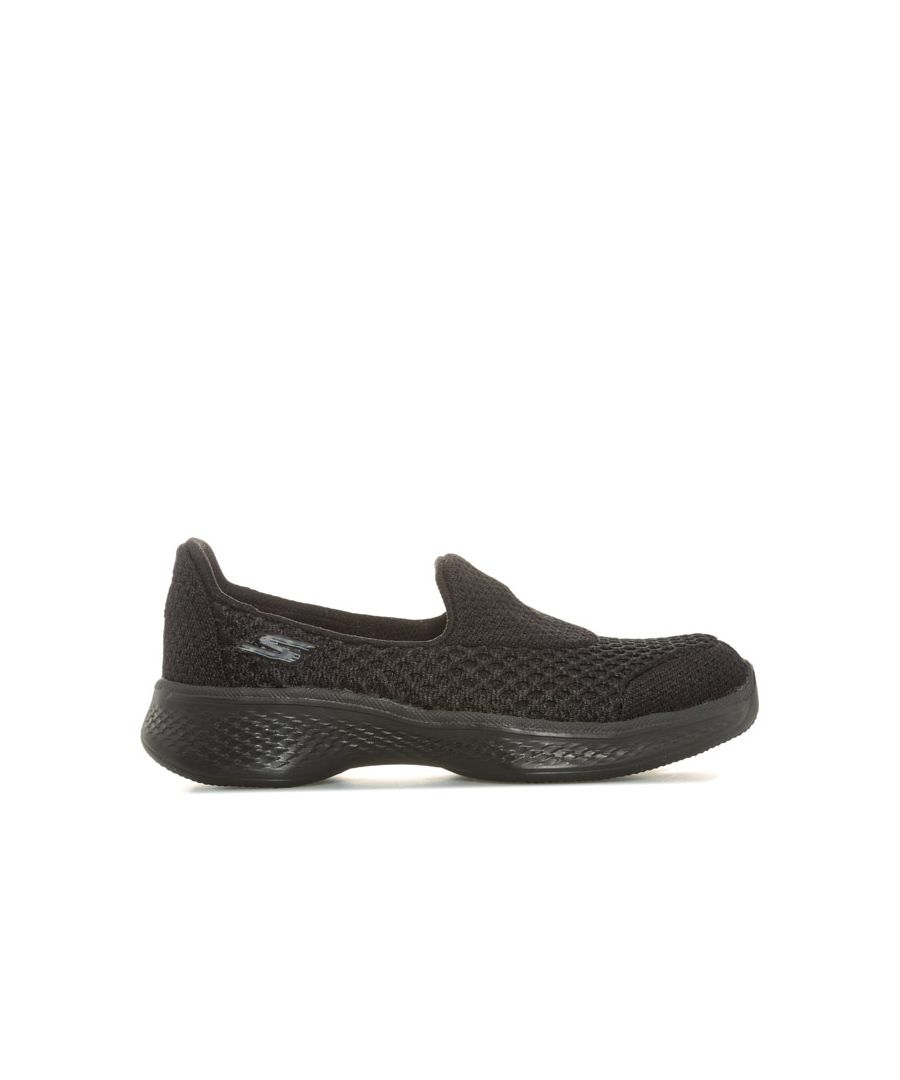 Image for Girl's Skechers Children Go Walk 4 Kindle Slip On Trainers in Black