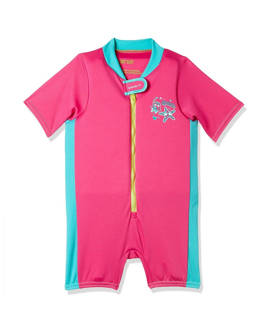 Image for Speedo Sea Squad Floatsuit Pink/Blue -  2-3 Years