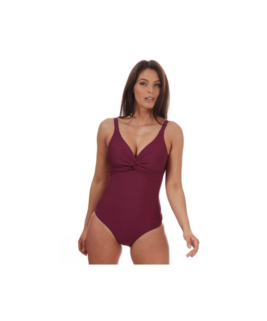 Image for Women's Speedo Brigitte Swimsuit Purple 10in Purple