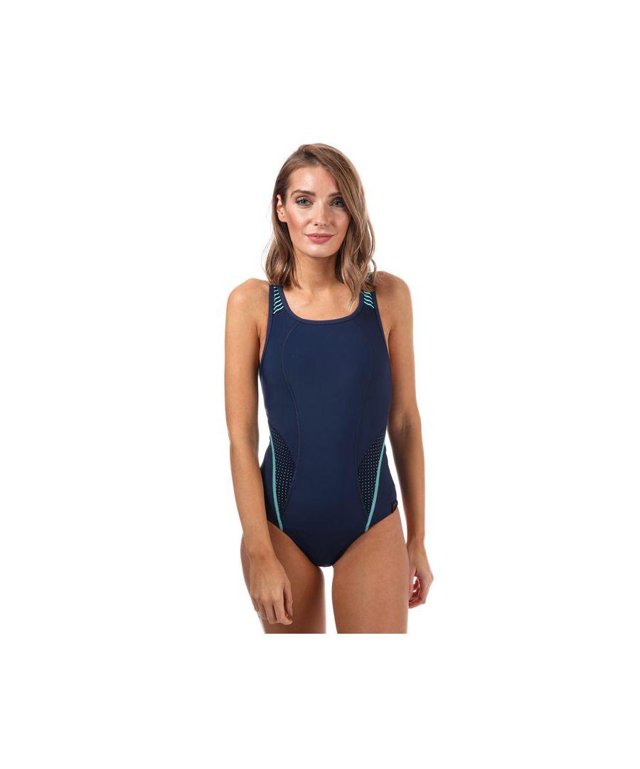 Image for Women's Speedo Fit PowerMesh Pro Swimsuit in Navy