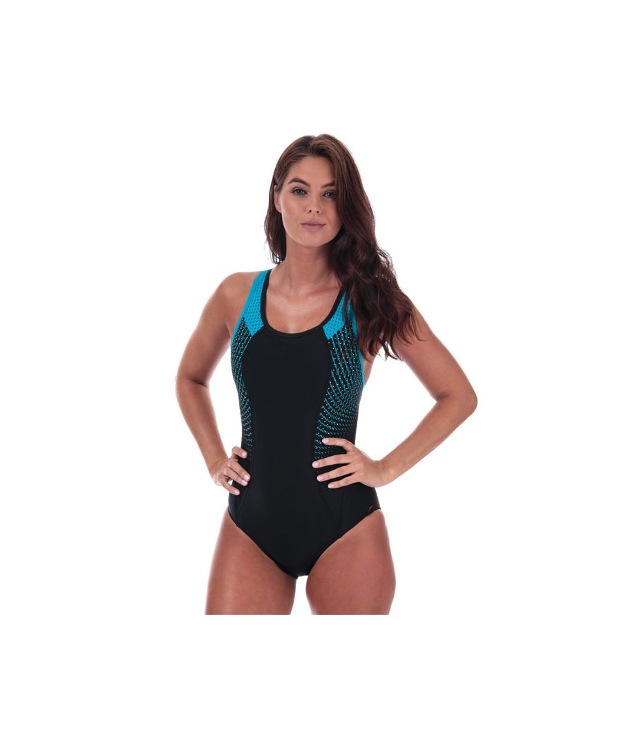 Image for Women's Speedo Fit Pro Swimsuit in black blue