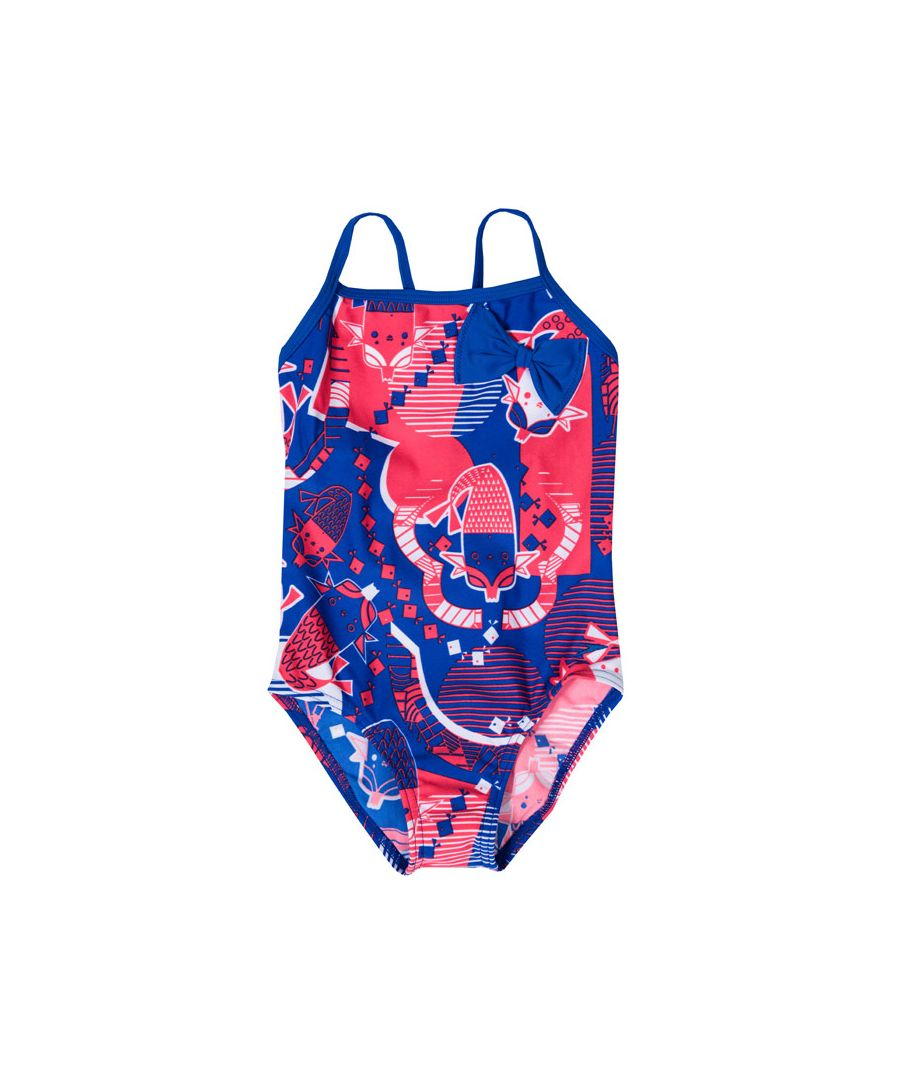 Image for Girl's Speedo Infant Bow One Piece Swimsuit in Blue pink