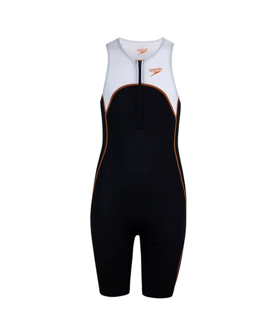 Image for Speedo Proton Kids Triathlon Sleeveless Wetsuit Black/Orange