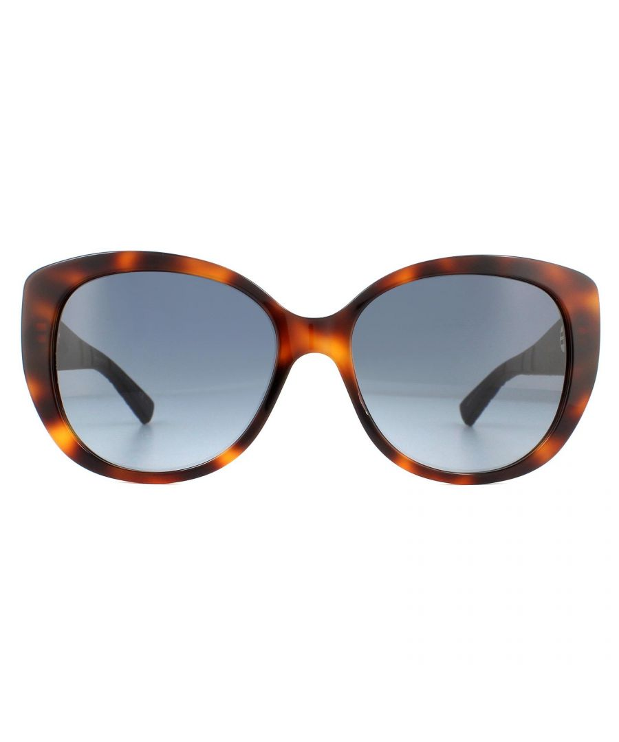 Image for Dior Sunglasses Dior Lady 1R GRS HD Havana Front With Blue Arms Grey Gradient