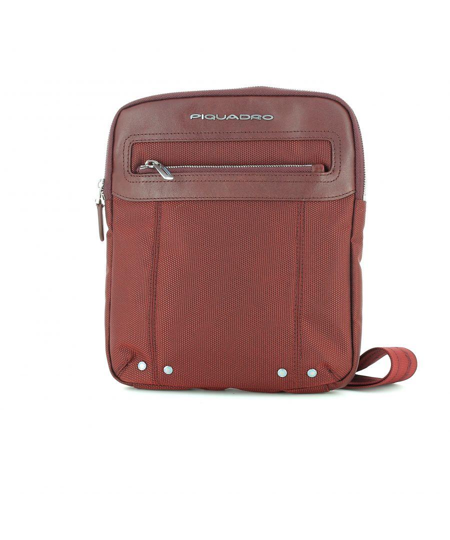 Image for Piquadro, Slim Crossbody Bag Link ARANCIO